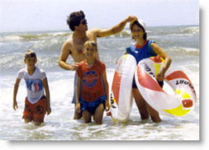 The family at Sunset Beach, NC